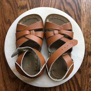 Salt Water Sandal by Hoy Shoes in Tan for Kids
